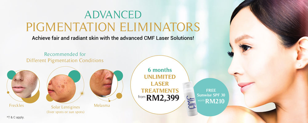 Achieve fair and radiant skin with the advanced CMF Laser Solutions!