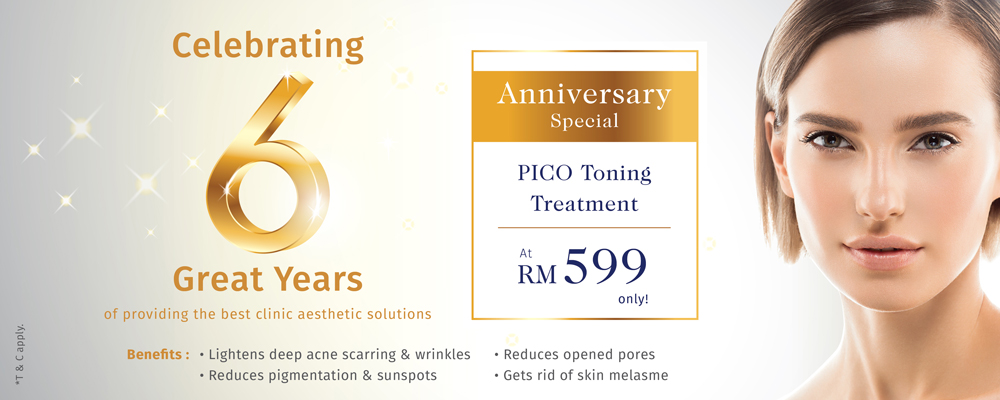 Celebrating 6 Great Years of providing the best clinic aesthetic solutions
