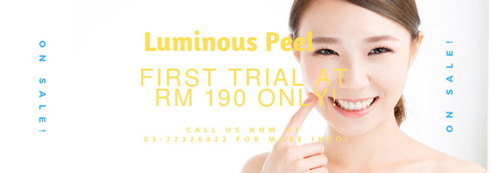 Special promotion for Luminous Peel