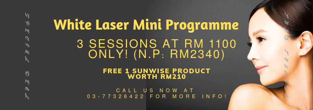 Special promotion for White Laser